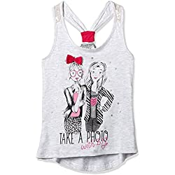 Cherokee Girls' T-Shirt (268006454_Grey Melange_08Y)
