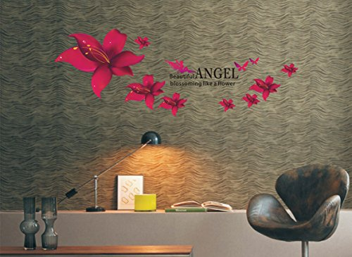 Oren Empower Angel SafflowerEnvironmental Quality Pvc Transparent Wallpaper Third Generation Removable Wall Sticker
