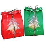 Kuchen für Kekse, Süßigkeiten, 19,8 cm, Weihnachtsbaum, mit 100 Stück, Rot/Grün / Weiß Christmas Tree