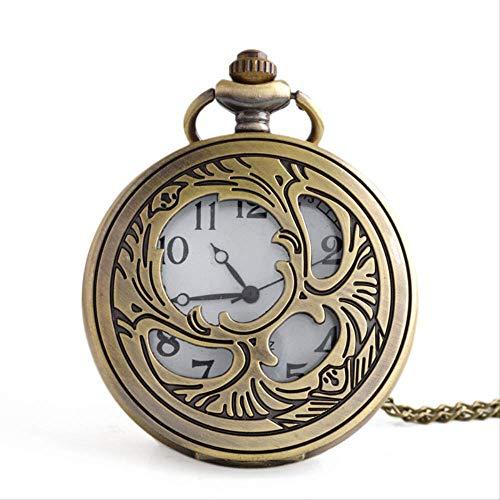 Orologio da tasca, cavo, orologio da tasca al quarzo, retro, flip, uomo, lista da appendere (quadrante diametro: 47mm)