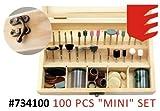 100-tlg Minitool Mini-Bohrmaschine Combitool Schleifer Zubehör Schleifstift Set