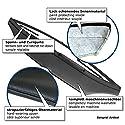 Akhan SS541 - Steinschlagschutz Hauben Bra, Frontmaske schwarz geeignet für Seat Toledo/ Leon 1M (99-04)