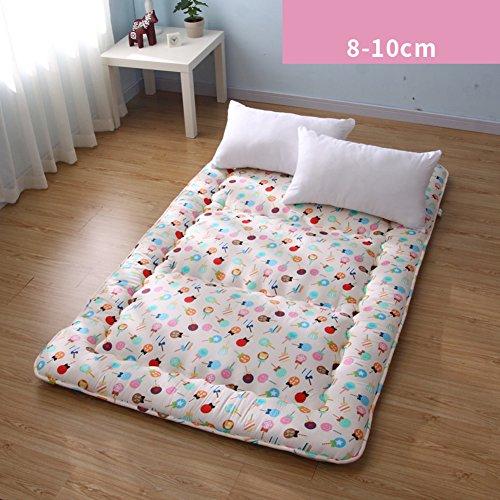 HYXL Faltbare Verdickung Tatami Boden Matratze,Allergiker-Geeignet Tatami-Matte matratze schlafsaal einzelbett matratze Kühlung-matratzenauflage-A 90x190cm(35x75inch)