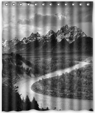 Haloxa Ansel Adams The Tetons and The Snake River Waterproof Fabric Polyester Bathroom Shower Curtain 60