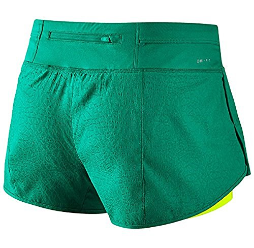 Nike Damen 3 Zoll Rival Jacquard 2-In-1 Shorts Oberbekleidung 351 TEAL CHARGE/VOLT/REFLECTIV