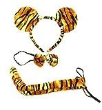 Markenlos Tiger-Set, Verkleidung für Kopf, Hals, Po, Körperteile für Erwachsenen oder Kind