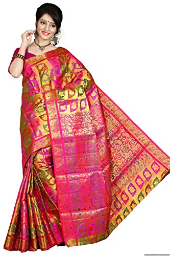 Mimosa Silk Kanchipuram Saree (71-Dpink _Dark Pink)