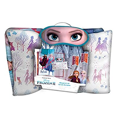 Disney Saco Dormir + COJIN + Antifaz Frozen 2