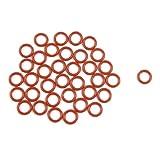 Sourcingmap a12040200ux0707-50 piezas de silicona roja juntas de sellado de aceite anillos o arandelas de 12 mm x 2 mm