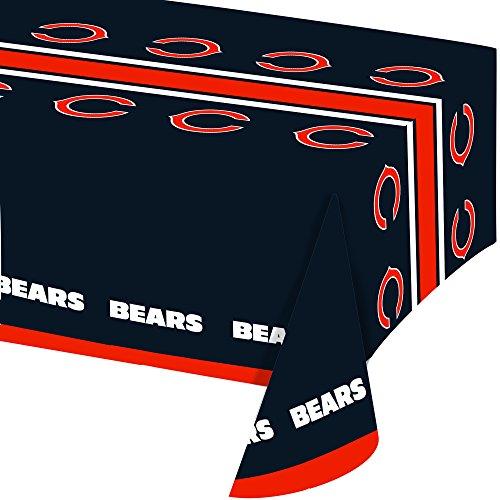 Creative Converting Offiziell lizenzierte NFL Papierschüsseln, 8 Stück, 570 ml, Chicago Bears Tablecover (Party Supplies Superbowl)