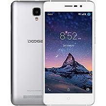 "Moviles Libres Baratos, DOOGEE X10 Teléfono Móvil Libre, Android 6.0, 5""HD, Procesador Dual Core MT6570, Dual SIM 3G Smartphone, Bluetooth 4.0, 5.0MP Cámara, 8GB ROM, Bateria con 3360mAh - Plata"