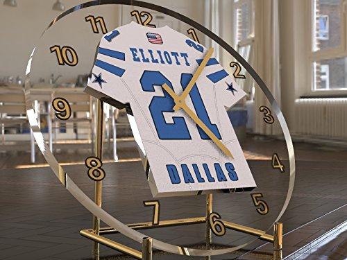 NFL NATIONAL-FOOTBALL-LEAGUE-SCHREIBTISCH TAKTGEBER-NFC-EAST TRIKOT UHREN, AMERICAN FOOTBALL BELIEBIGER NAME, ALLE NUMMER JEDES TEAM DALLAS COWBOYS (Cowboys Schreibtisch)