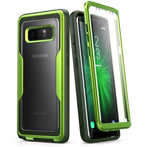 i-Blason Hülle Kompatibel für Samsung Galaxy Note 8 Handyhülle Ganzkörper Case Robust Schutzhülle Cover [Magma] mit integriertem Displayschutz, Grün -