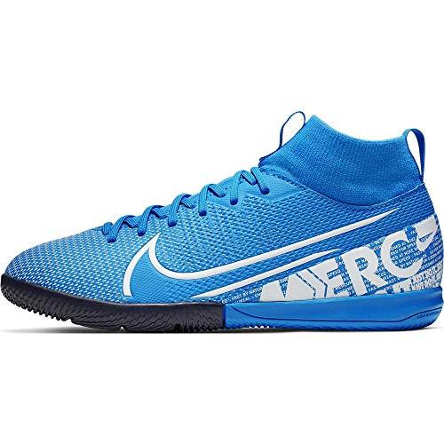 Nike Unisex-Kinder Superfly 7 Academy Ic Fußballschuhe, Mehrfarbig (Blue Hero/White/Obsidian 414), 35 EU