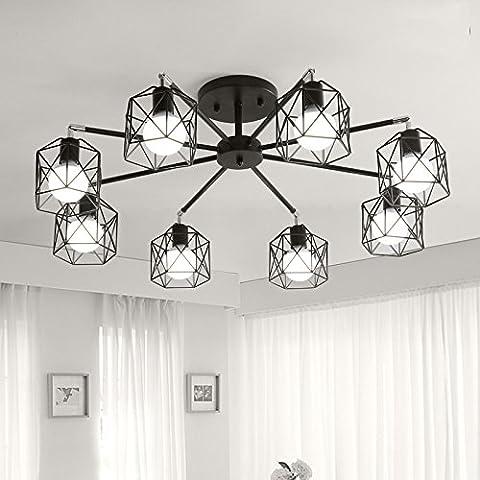 La Salle De Séjour Des Lampes De Plafond _ Chambre Lampes De Plafond De Fer Moderne Art Café,8 Bureau D'Étude