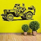 XCJX Adesivi murali Modello Jeep Creativa in Stile Europeo Decorazione per la casa di Commercio Estero Forniture Carta da Parati 108 cm x 57 cm