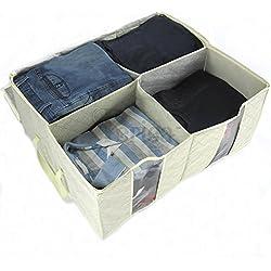 Periea–Caja de almacenaje, 4compartimentos–Karla–crema