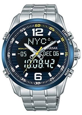 Pulsar Reloj Analógico Unisex con Correa de Chapado En Acero Inoxidable – PZ4003X1