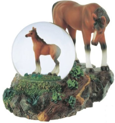 Price comparison product image George S. Chen Imports Snow Globe Horse with Foal Collection Figurine