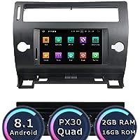 ROADYAKO Quad Core 7Inch Auto Estéreo para Citroen C4 2005 2006 2007 2008 2009 2010 2011 2011 Android 8.1 Navegación GPS 3G WiFi Enlace de Espejo RDS FM Am ...