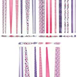 Beading Strips- Princess Theme - Cylindrical, Round and Cone Beads - Mega Pack - DIY for making jewellery, wrist bands and other fun paper-craft projects (360 beads pack)