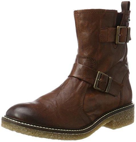 camel active Palm 72, Damen Biker Boots, Braun (Cognac), 38 EU (5 UK)
