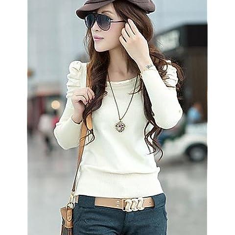 MYY/ suéter manga de soplo de géneros de punto de las mujeres , white-one-size , white-one-size
