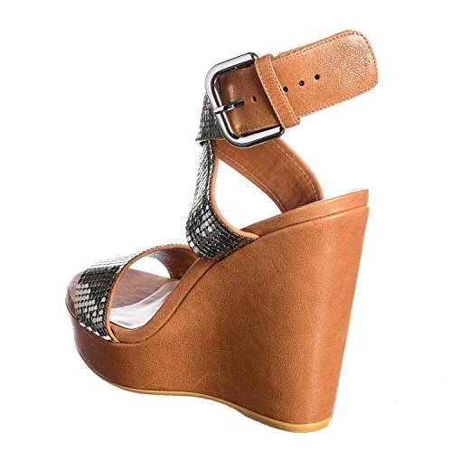 5513m Sandales Femmes Stuart Weitzman Metalmania Chaussures Femmes Sandales Chaussures En Cuir