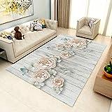DAMENGXIANG Moderne Einfache Blumen Schmetterling Abstrakt Für Wohnzimmer Rechteck Große Anti-Slip Teppich Schlafzimmer Dekorative Bodenmatte 70 × 180 cm