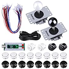 Arcade Joysticks Game Kits, Quimat 2 Spieler Zero-Delay-Arcade Game DIY Kits USB Encoder Wege Joystick Push Button für Mame Jamma & andere Kampfspiele und für PC und Raspberry Pi 1/2/3 (QR03)