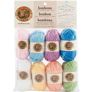 Bonbons Yarn 8/Pkg-Pastels Filato