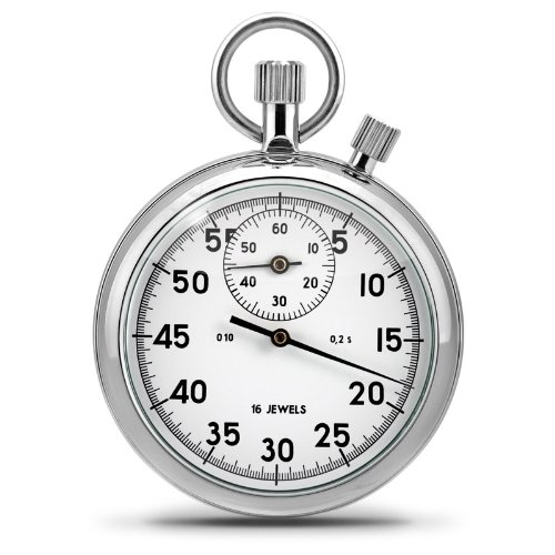 Mechanical Stopwatch, White, Split Timer 2 Crowns, Precision and proven mechanics from Russia