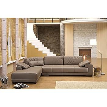 Design voll leder ecksofa sofa garnitur eckgruppe couch for Ecksofa amazon
