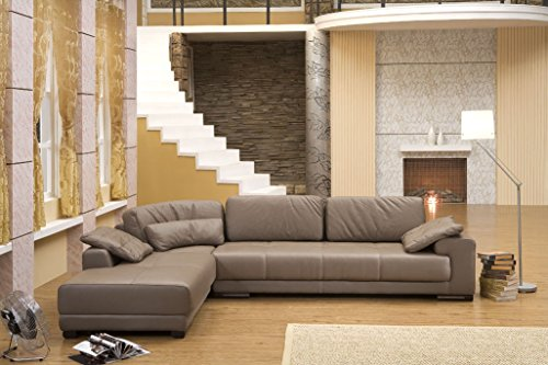 Mapo Möbel Design Voll-Leder Ecksofa Sofa-Garnitur Eckgruppe Couch Ledersofa 5042-L-1106