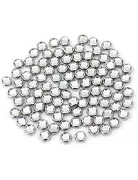 Ecloud Shop® 2 pieces 100X Apliques Remaches Metal Circonita 8mm Redondo Studs Punk Bolsa Calzado