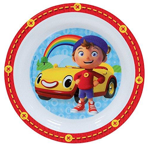 FUN HOUSE 005345 Oui Assiette pour Enfant, Polypropylène, Rouge, 22 x 22 x 1 cm