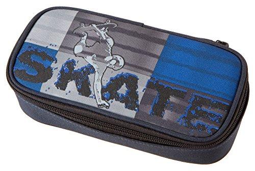 Schneiders-Vienna-49202-070-Schlamperetui-Extreme-Sports-Skate-circa-21-x-10-x-6-cm-blau