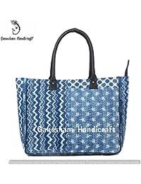 Indian Handmade Bohemian Beach Bags Hippe Top-Handle Vintage Cotton Handbag Boho Hobo Tote Bag Simple Purse Fashion...