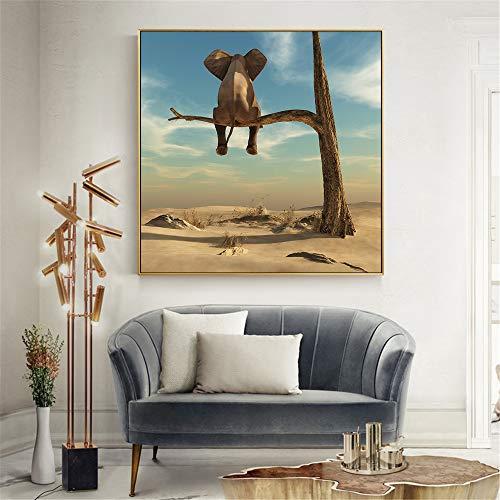 Zoom IMG-1 zgmtj divertente elefante sull albero