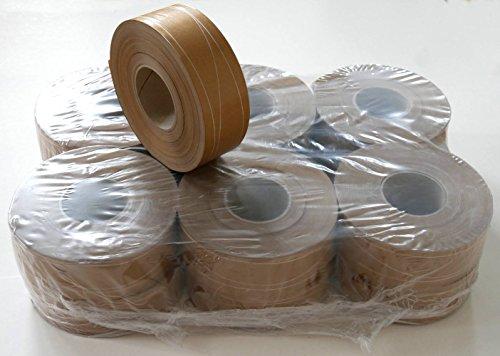 12 Rollen Naßklebeband 60 mm x 200 lfm., mit 2 Parallel- und 1 Sinusfaden verstärkt - Packhilfsmittel