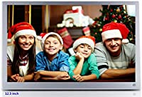 [Newest Version] Digital Photo Frame IPS Full HD 12 inch 1920 x 1080 Display, Ultra-thin Metal Case Advertising Machine TV Micro Displays With Remote Control Digital Picture Frame, Support Photo, Music & Video, HDMI Interface, SUPERWORLD Electronic Photo