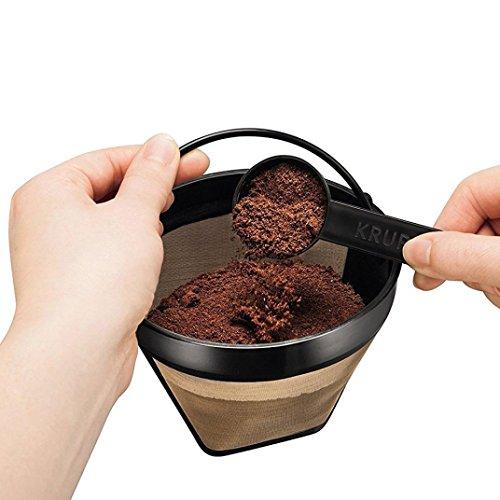 Rameng- Kaffeefilter Wiederverwendbar, Filter Cafe Edelstahl Kaffeemaschine mit Dauerfilter