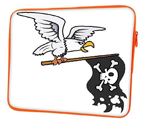 Snoogg Aquila Holding bandiera pirata Vector Cartoon