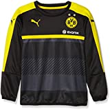 Puma Kinder Sweatshirt BVB Training Sweat with Sponsor, Black-Cyber Yellow, 176, 749851 02