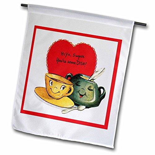 3dRose FL 170258_ 1Hiya Zucker Sie einige Gericht Cute Zucker Blow und Kaffeetasse Garden...