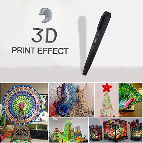 LESHP - 4ªGeneración Ligero Impresora Pluma Lapiz 3D para dibujos 3D con...
