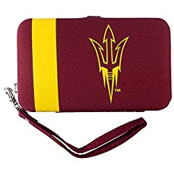 NCAA Arizona State Sun Devils Shell Wristlet, 3.5 x 0.5 x 6-Inch, Red