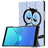 KATUMO Huawei MediaPad M5 8.4 Hülle Case - Ultra Slim Leder Tasche Hülle Skin für Huawei MediaPad M5 8.4 Zoll 2018 Modell Tablet PC Schutzhülle Smart Case Cover mit Standfunktion - Blue Classic Cat