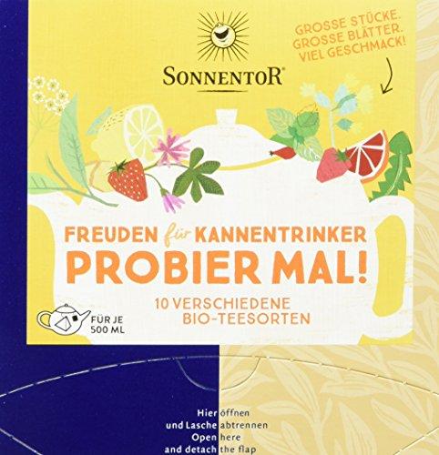 Sonnentor Freuden für Kannentrinker, Bio Tee Probier mal! ,Kannenbeutel (1 x 29,2 g)