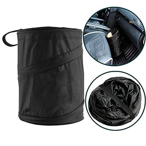 TIANOR Pop Up Trash Car Bin for Storage or Rubbish Collection - Universal Car Foldabe Storage Bag Holder Organiser Rubbish Bin Trash Garbage Accessories Car Garbage Trash Bag Back seat Organizer
